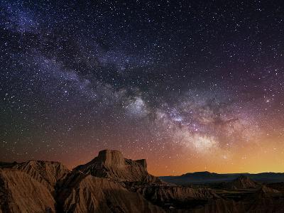 Milky Way over the Desert-Inigo Cia-Photographic Print