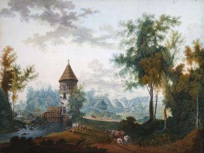 Mill and Pil Tower in Pavlovsk Park, before 1797-Semyon Fyodorovich Shchedrin-Giclee Print