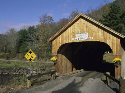 Mill Bridge, Tunbridge, Vermont, USA--Photographic Print