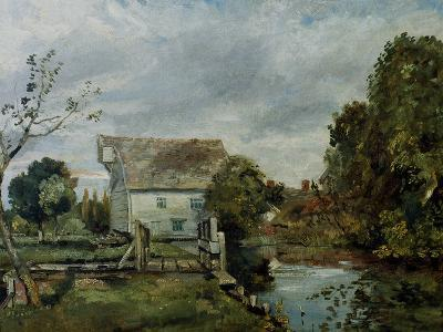 Mill by the River Stour, c.1820-John Constable-Giclee Print