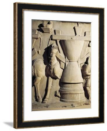 Mill for Grain, Bas-Relief, Detail, Roman Civilisation, 2nd Century--Framed Giclee Print