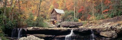 Mill in a Forest, Glade Creek Grist Mill, Babcock State Park, West Virginia, USA--Photographic Print