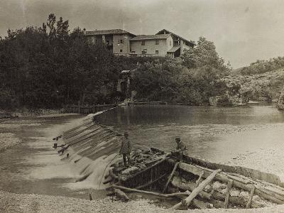Mill on the River Natisone in Premariacco During the First World War-Luigi Verdi-Photographic Print