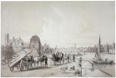 Millbank, Westminster, London, 1841-William Parrott-Giclee Print
