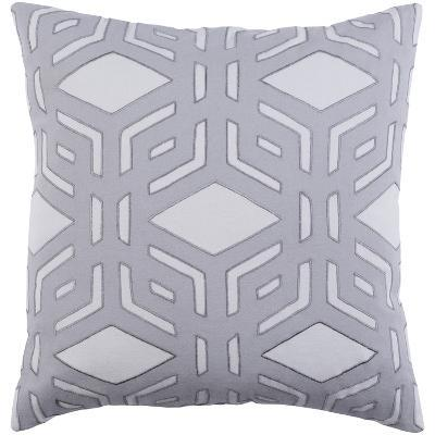 Millbrook Down Fill Pillow - Silver--Home Accessories