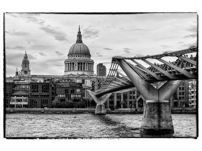 Millennium Bridge and St. Paul's Cathedral - City of London - UK - England - United Kingdom-Philippe Hugonnard-Photographic Print