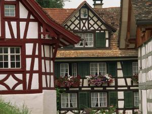 Timber Framed Houses Near Konstanz in the Thurgau Region of Switzerland, Europe by Miller John