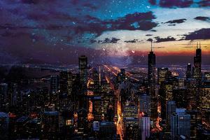 Chicago Skyline by Milli Villa