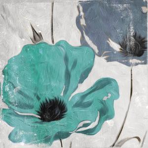 Floral Teal and Blue Hues by Milli Villa
