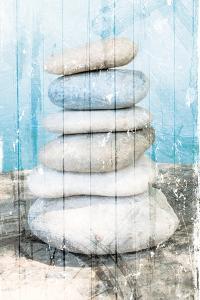Stacked Rocks At Sea by Milli Villa