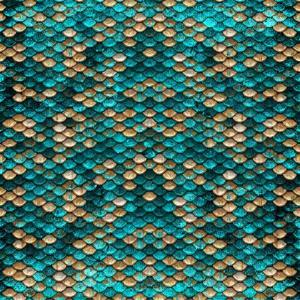 Teal Gold Scales by Milli Villa