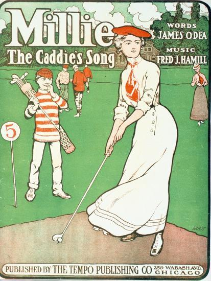 Millie - The Caddie's Song, sheet music cover, American, 1901-Unknown-Giclee Print