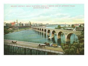 Milling District, Bridges, Minneapolis, Minnesota