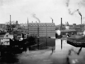 Mills and Smokestacks in Lowell, Massachusetts