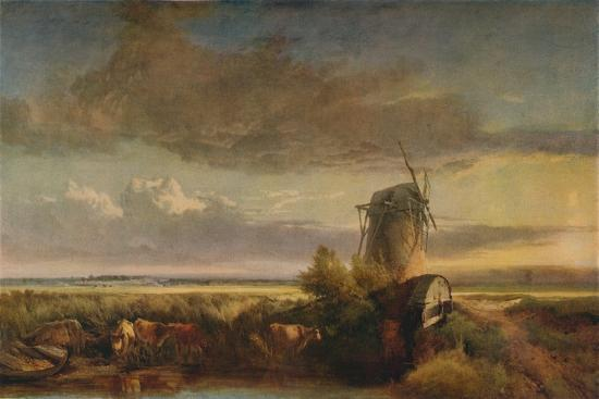 Mills on the Fens, c1853-Henry Bright-Giclee Print