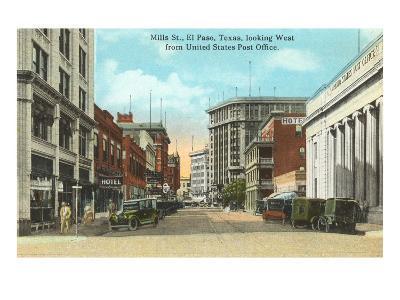 Mills Street, El Paso, Texas--Art Print