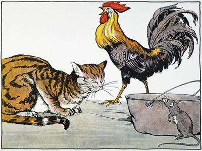 Aesop: Cat, Cock, and Mouse