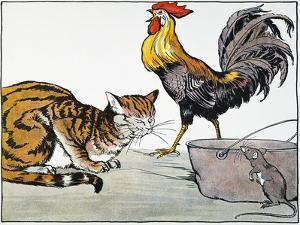 Aesop: Cat, Cock, and Mouse by Milo Winter