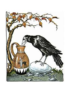 Aesop: Crow and Pitcher by Milo Winter