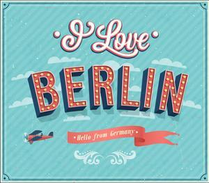 Vintage Greeting Card From Berlin - Germany by MiloArt