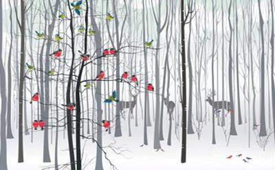 Christmas Tree in the Forest by Milovelen