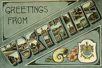 Greetings from Worthing, Postcard, C1913