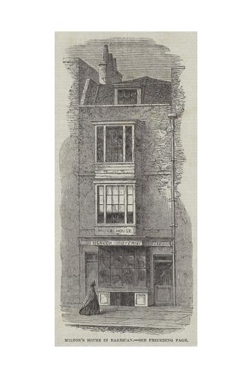 Milton's House in Barbican--Giclee Print