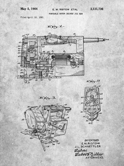 Milwaukee Portable Jig Saw Patent-Cole Borders-Art Print