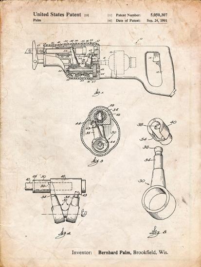 Milwaukee Reciprocating Saw Patent-Cole Borders-Art Print