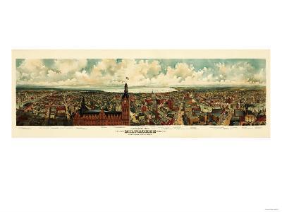 Milwaukee, Wisconsin - Panoramic Map-Lantern Press-Art Print