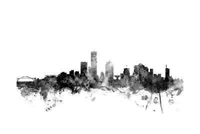 Milwaukee Wisconsin Skyline-Michael Tompsett-Art Print