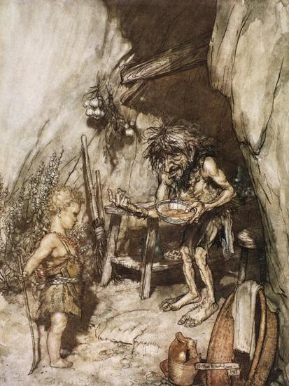 Mime and the infant', 1924-Arthur Rackham-Giclee Print