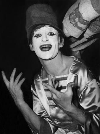 Mime Marcel Marceau During a Gala in Paris Early 60'S