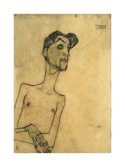 Mime Van Osen, 1910-Egon Schiele-Giclee Print