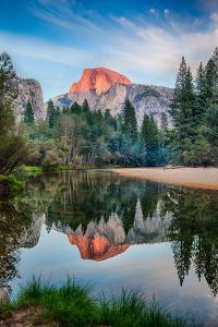 Sunset on Half Dome in Yosemite by Mimi Ditchie Photography