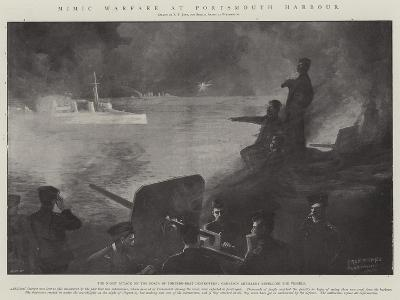 Mimic Warfare at Portsmouth Harbour-Fred T. Jane-Giclee Print