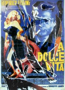 The Dance of Anita and Marcello by Mimmo Rotella