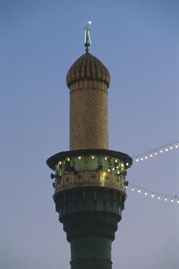 Minaret, Al-K?Dhimiya Mosque, Baghdad--Photographic Print