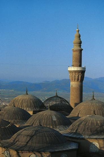 Minaret of Bursa Grand Mosque (Ulu Cami), 15th Century, Bursa, Marmara, Turkey--Photographic Print
