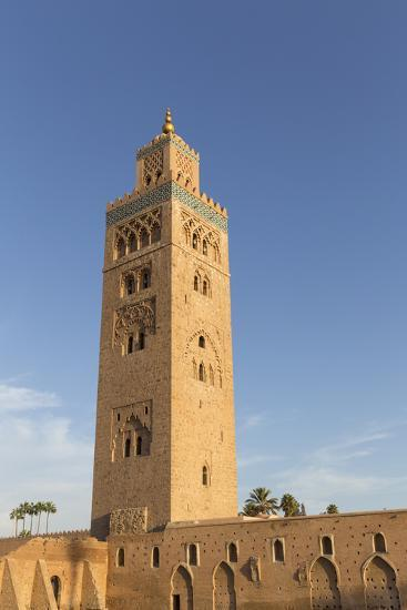 Minaret of Koutoubia Mosque, UNESCO World Heritage Site, Marrakesh, Morocco, North Africa, Africa-Stephen Studd-Photographic Print