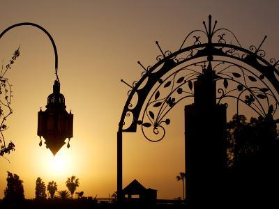 Minaret of the Koutoubia Mosque at Sunset, Marrakesh, Morocco, North Africa, Africa-Frank Fell-Photographic Print