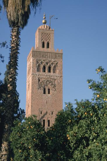 Minaret of the Koutoubia Mosque, Marakesh, Morocco-Vivienne Sharp-Photographic Print