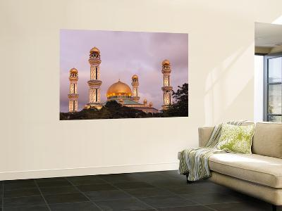 Minarets and Main Dome of Bolkiah Mosque at Dusk-Anders Blomqvist-Wall Mural