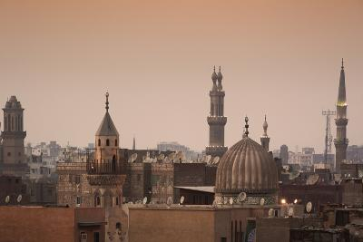 Minarets and Mosques of Cairo at Dusk-Alex Saberi-Photographic Print