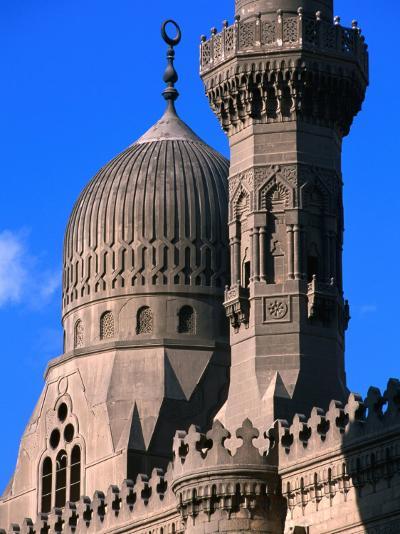 Minarets and Roof Detail of Al-Rifai Mosque, Cairo, Egypt-John Elk III-Photographic Print