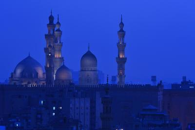 Minarets of Sultan Hassan and Rifai Mosques in Old Cairo-Kenneth Garrett-Photographic Print