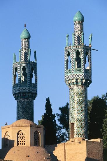 Minarets of the Mausoleum of Shah Nematollah Vali (1330-1431)--Photographic Print