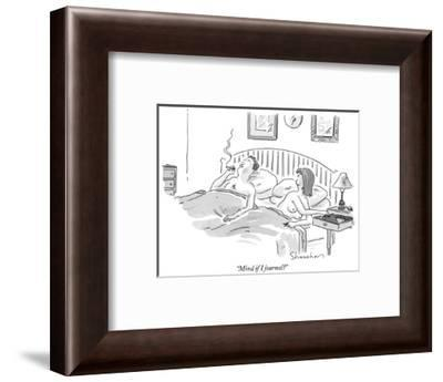 """Mind if I journal?"" - New Yorker Cartoon-Danny Shanahan-Framed Premium Giclee Print"