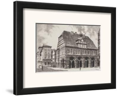 Minden - Rathaus-Bruck-Framed Art Print