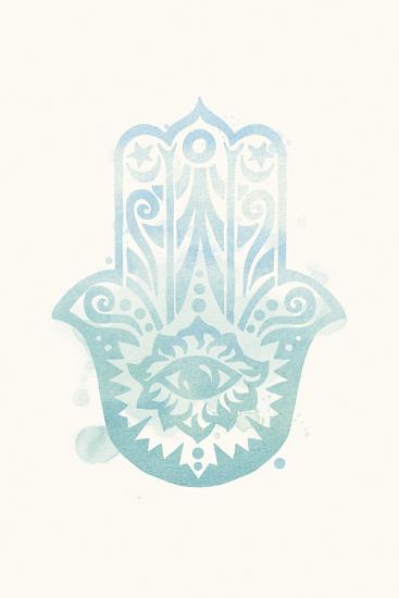 Mindfulness - Hamsa-Sasha Blake-Art Print